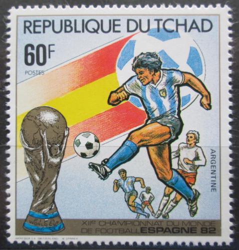 Poštovní známka Èad 1982 MS ve fotbale Mi# 893