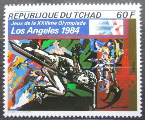 Poštovní známka Èad 1982 LOH Los Angeles, skok do výšky Mi# 920