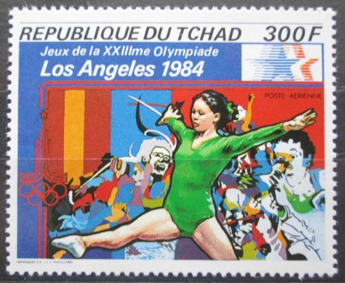 Poštovní známka Èad 1982 LOH Los Angeles, gymnastika Mi# 922