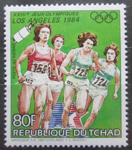 Poštovní známka Èad 1983 LOH Los Angeles, štafetový bìh Mi# 996