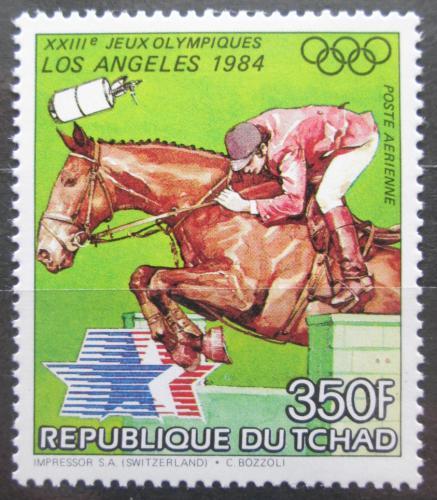 Poštovní známka Èad 1983 LOH Los Angeles, parkur Mi# 997