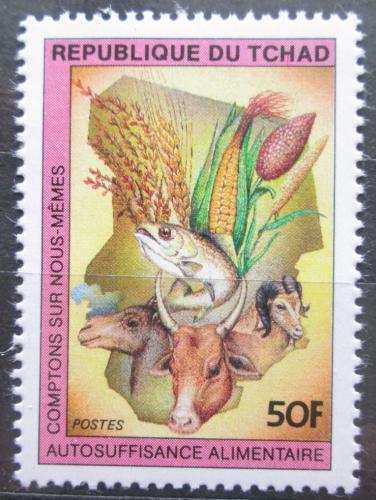 Poštovní známka Èad 1983 Fauna a flóra Mi# 1003