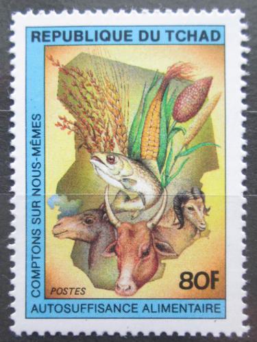 Poštovní známka Èad 1983 Fauna a flóra Mi# 1007