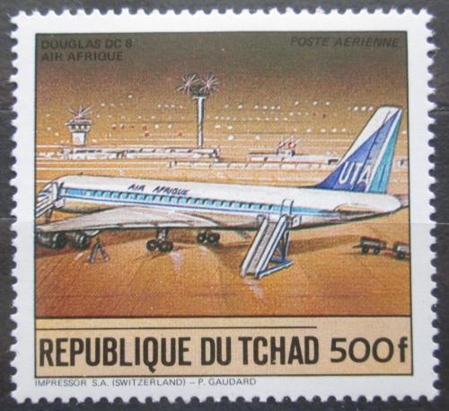 Poštovní známka Èad 1984 Letadlo Douglas DC 8 Mi# 1066 Kat 5.50€