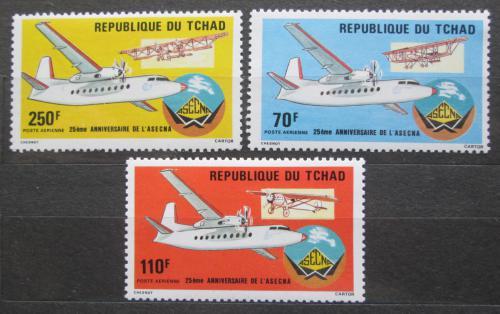 Poštovní známky Èad 1985 Letadla Mi# 1121-23