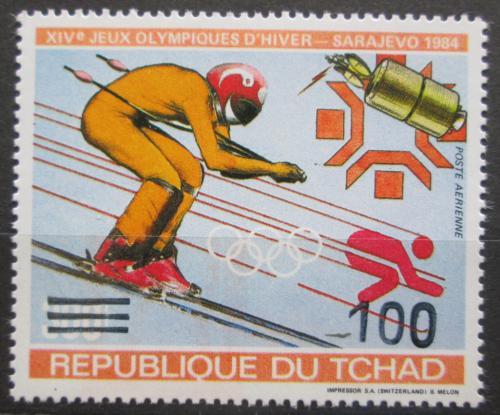 Poštovní známka Èad 1987 ZOH Sarajevo pøetisk RARITA Mi# 1145