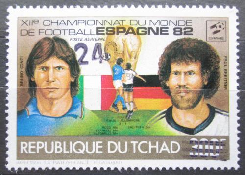Poštovní známka Èad 1987 MS ve fotbale pøetisk RARITA Mi# 1151