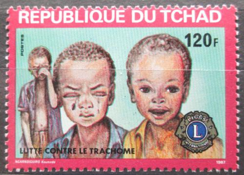 Poštovní známka Èad 1987 Boj proti trachomu VELKÁ RARITA Mi# 1163 Kat 50€