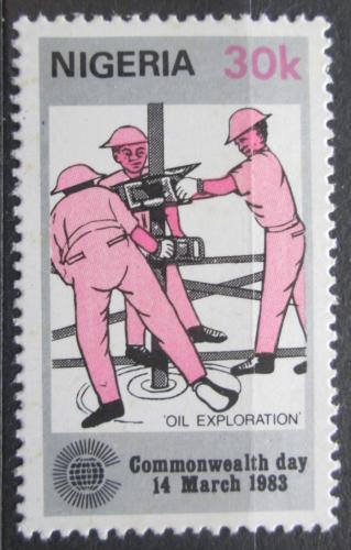 Poštovní známka Nigérie 1983 Tìžba ropy Mi# 412