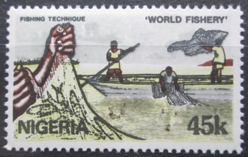 Poštovní známka Nigérie 1983 Tradièní rybolov Mi# 424