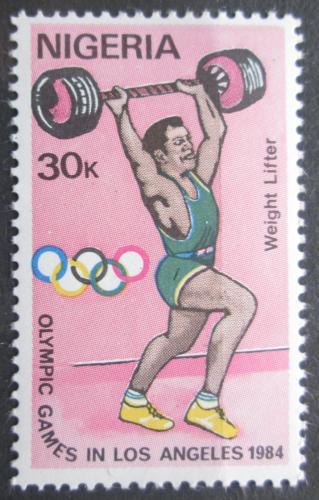 Poštovní známka Nigérie 1984 LOH Los Angeles, vzpírání Mi# 440