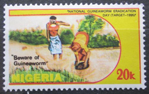 Poštovní známka Nigérie 1991 Boj proti drankulóze Mi# 566