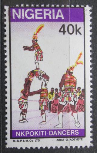 Poštovní známka Nigérie 1986 Tradièní tanec Mi# 482