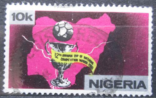 Poštovní známka Nigérie 1980 Mistrovství Afriky ve fotbale Mi# 366