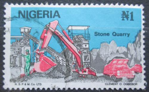 Poštovní známka Nigérie 1986 Práce v kamenolomu Mi# 485