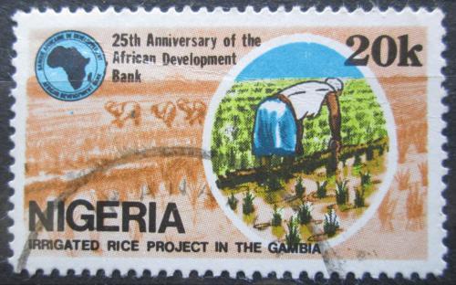 Poštovní známka Nigérie 1989 Zavlažovací systém Mi# 536