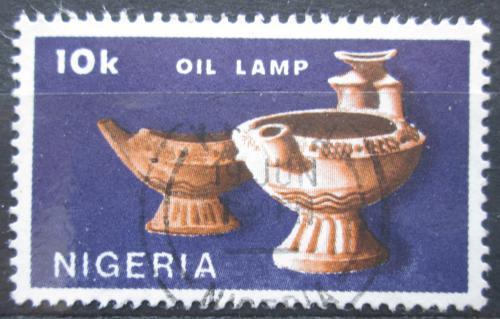 Poštovní známka Nigérie 1990 Olejové lampy Mi# 547