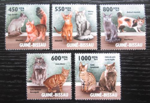 Poštovní známky Guinea-Bissau 2010 Domácí koèky Mi# 4575-79 Kat 14€