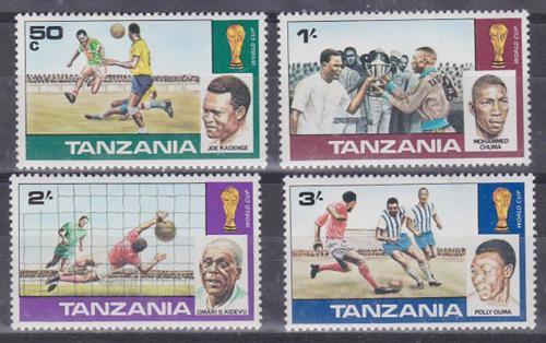 Poštovní známky Tanzánie 1978 MS ve fotbale Mi# Mi# 95-98