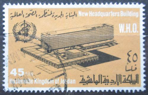Poštovní známka Jordánsko 1967 Ústøedí WHO v Ženevì Mi# 677