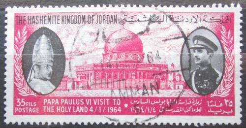 Poštovní známka Jordánsko 1964 Papež Pavel VI. a král Hussein II. Mi# Mi# 421