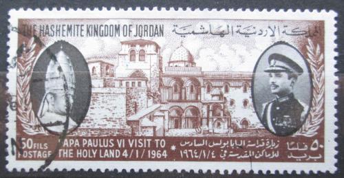 Poštovní známka Jordánsko 1964 Papež Pavel VI. a král Hussein II. Mi# Mi# 422
