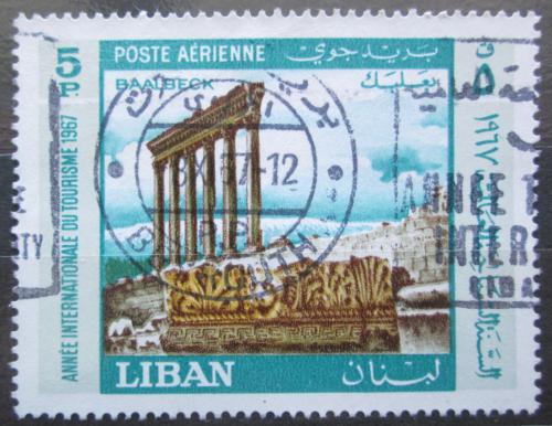 Poštovní známka Libanon 1967 Ruiny Baalbek Mi# 992
