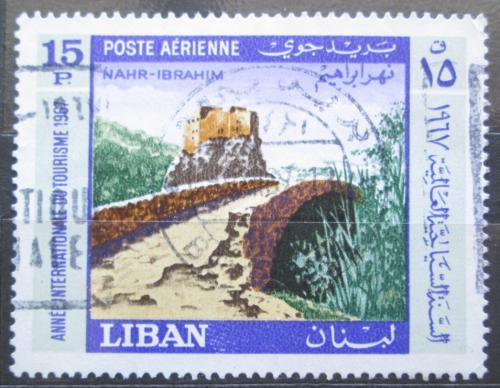 Poštovní známka Libanon 1967 Starý most a ruiny Mi# 994