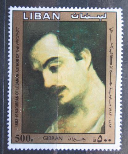 Poštovní známka Libanon 1983 Gibran Kahlil, spisovatel Mi# 1315