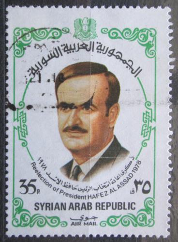Poštovní známka Sýrie 1978 Prezident Hafis al-Assad Mi# 1413