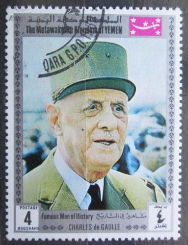 Poštovní známka Jemen 1970 Charles de Gaulle Mi# 1160