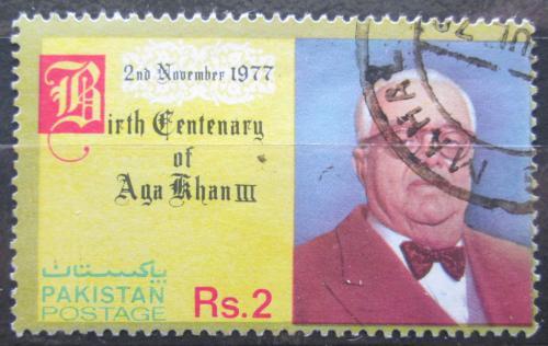 Poštovní známka Pákistán 1977 Sultán Mahomed Shah Aga Khan III. Mi# 440