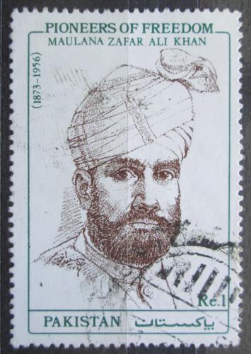 Poštovní známka Pákistán 1991 Maulana Zafar Ali Khan, novináø Mi# 816