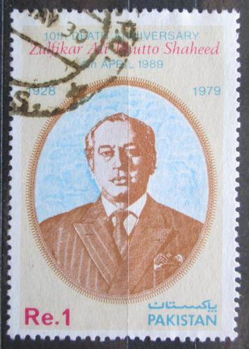 Poštovní známka Pákistán 1989 Prezident Zulfikar Ali Bhutto Mi# 740