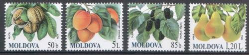 Poštovní známky Moldavsko 2009 Ovoce Mi# 669-72