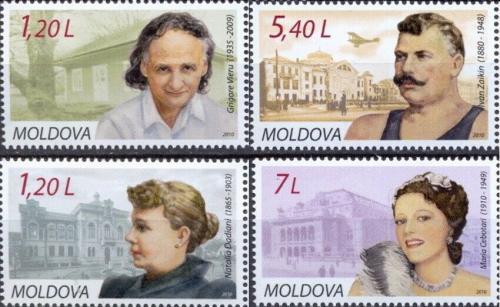 Poštovní známky Moldavsko 2010 Osobnosti Mi# 684-87 Kat 10€