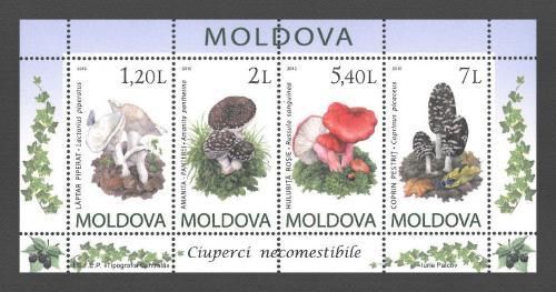 Poštovní známky Moldavsko 2010 Houby Mi# Block 49 Kat 10€