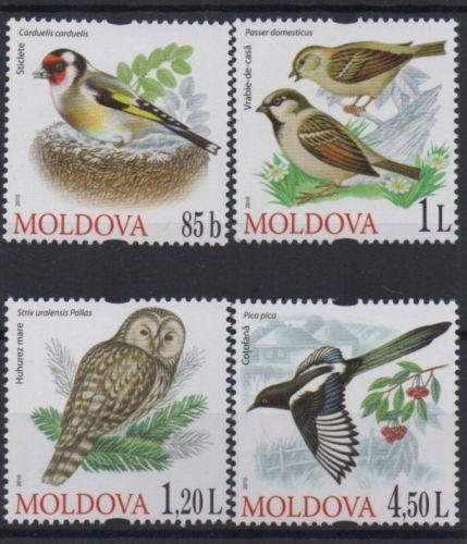 Poštovní známky Moldavsko 2010 Ptáci Mi# 698-701