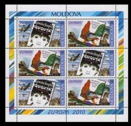 Poštovní známky Moldavsko 2010 Evropa CEPT, dìtské knihy Mi# MH 15 Kat 13€