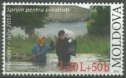 Poštovní známka Moldavsko 2010 Pomoc pøi povodních Mi# 713