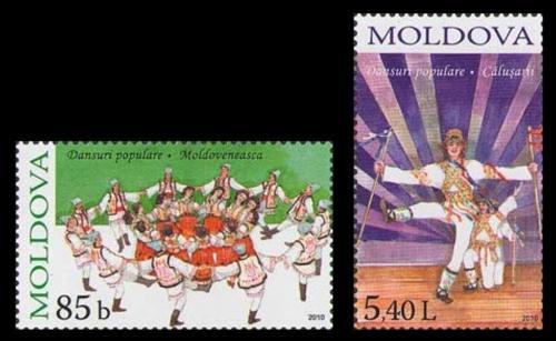 Poštovní známky Moldavsko 2010 Lidové tance Mi# 714-15