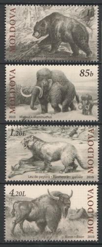 Poštovní známky Moldavsko 2010 Prehistorická fauna Mi# 719-22
