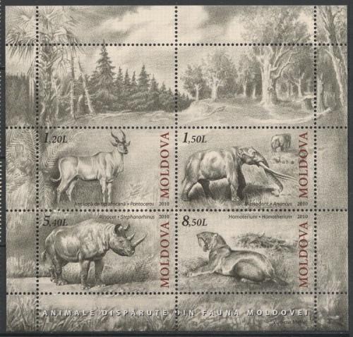 Poštovní známka Moldavsko 2010 Prehistorická fauna Mi# Block 51 Kat 11€