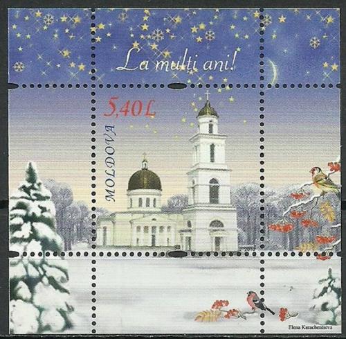 Poštovní známka Moldavsko 2010 Vánoce a nový rok Mi# Block 52