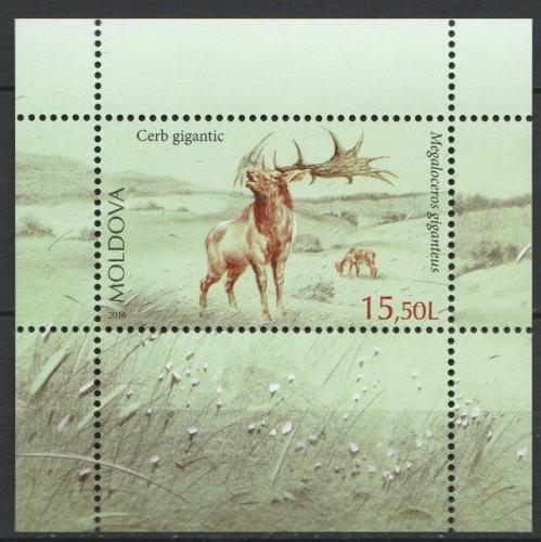 Poštovní známka Moldavsko 2016 Prehistorická fauna Mi# Block 75