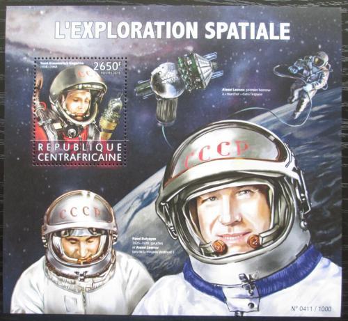 Poštovní známka SAR 2015 Prùzkum vesmíru, Gagarin Mi# Block 1397 Kat 12€