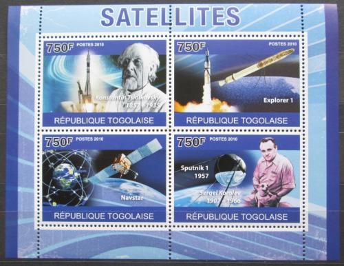 Poštovní známky Togo 2010 Vesmírné satelity Mi# 3794-97 Kat 12€
