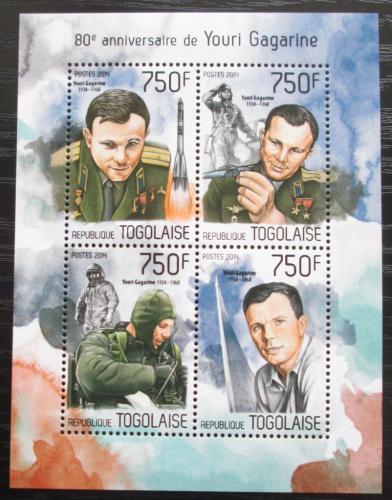 Poštovní známky Togo 2014 Jurij Gagarin Mi# 5732-35 Kat 12€