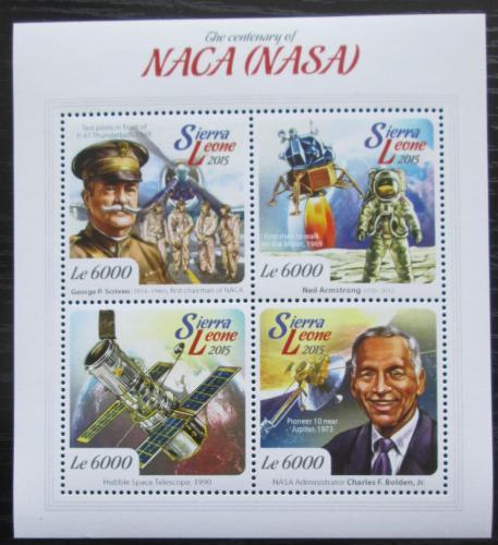 Poštovní známky Sierra Leone 2015 NASA, 100. výroèí Mi# 6133-36 Kat 11€
