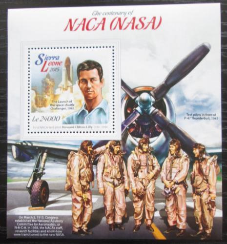 Poštovní známka Sierra Leone 2015 NASA, 100. výroèí Mi# Block 761 Kat 11€